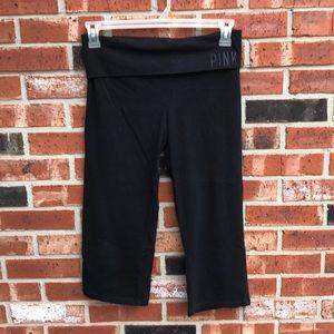 Black PINK Yoga Capris